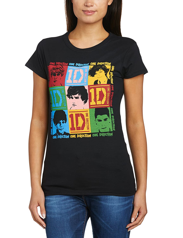 One Direction 9 Block Girls Jr Black Shirts