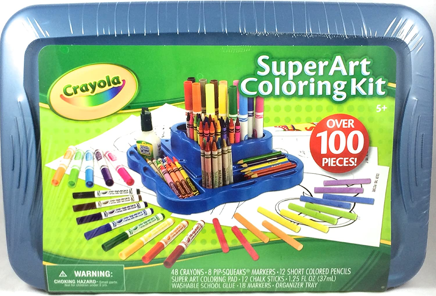Amazon.com: Crayola Super Art Coloring Kit - BLUE: Toys & Games