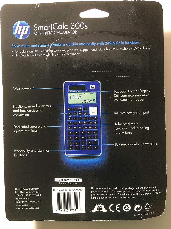 NW277AA/B1S Sms Hp Smart Calc 300s Scientific calculat Calculators ...