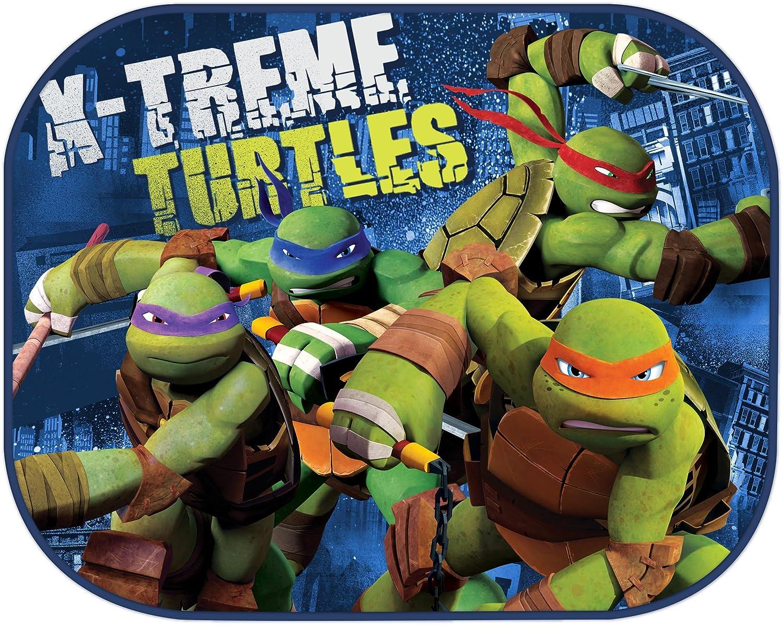 Gr/ün Nickelodeon Auto-Sonnenblende Motiv Ninja Turtles 2 St/ück