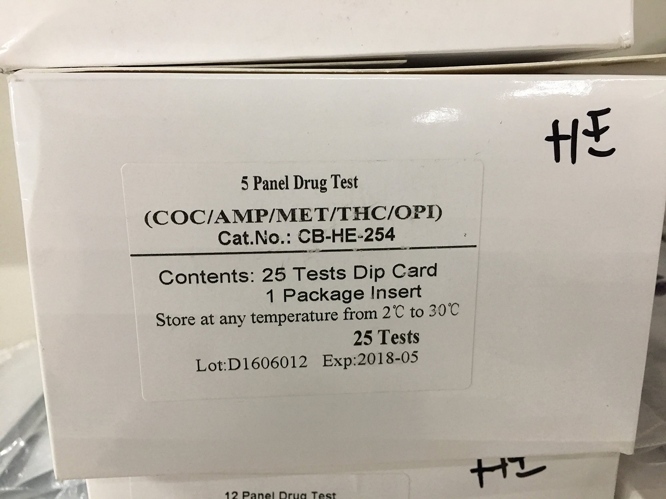 5 Panel Generic Multi Drug Urine Dip Card Test Kit (COC/THC/OPI/AMP/PCP)(Multiple Quantities)(250) by TestCountry (Image #5)
