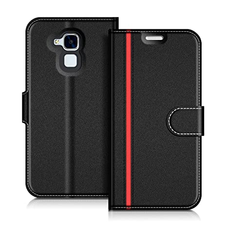 save off fe6c3 7d879 Honor 5C Case, Coodio Honor 5C Leather Case, Honor 5C Wallet Case, Stylish  Magnetic Closure Flip Folio Case Cover [Wallet Stand], Card Slots For Honor  ...