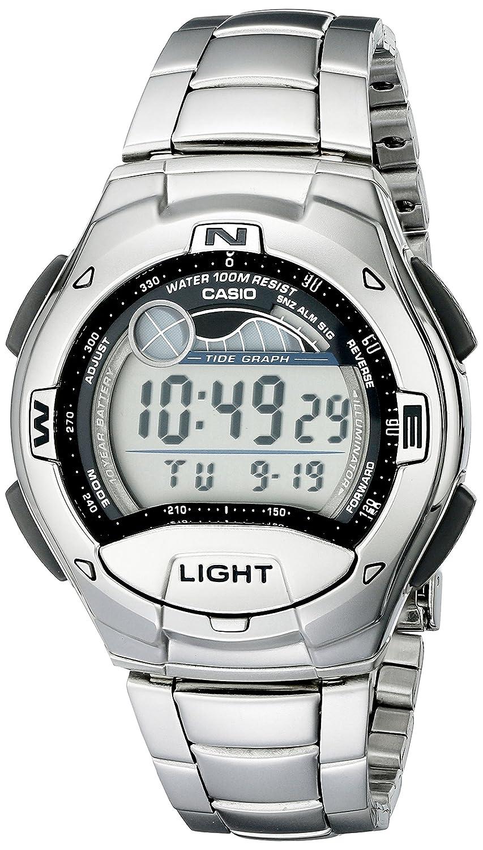 Amazon Casio Mens W753d 1av Moon Phase Tide Graph Sport Watch