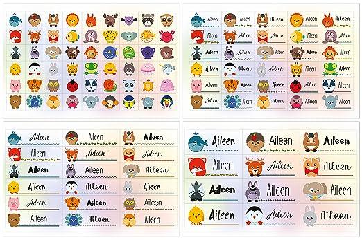 Kigima 114 Aufkleber Sticker Namens-Etiketten rechteckig Alexander Verschiedene Gr/ö/ßen und Tiermotive