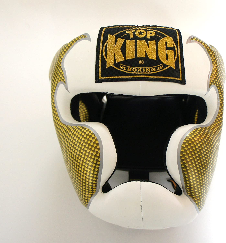 トップキング TOP KING キックボクシング ヘッドギア タトゥ 白金 Lサイズ