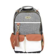 Itzy Ritzy Diaper Bag Backpack - Boss Backpack in Coffee and Cream