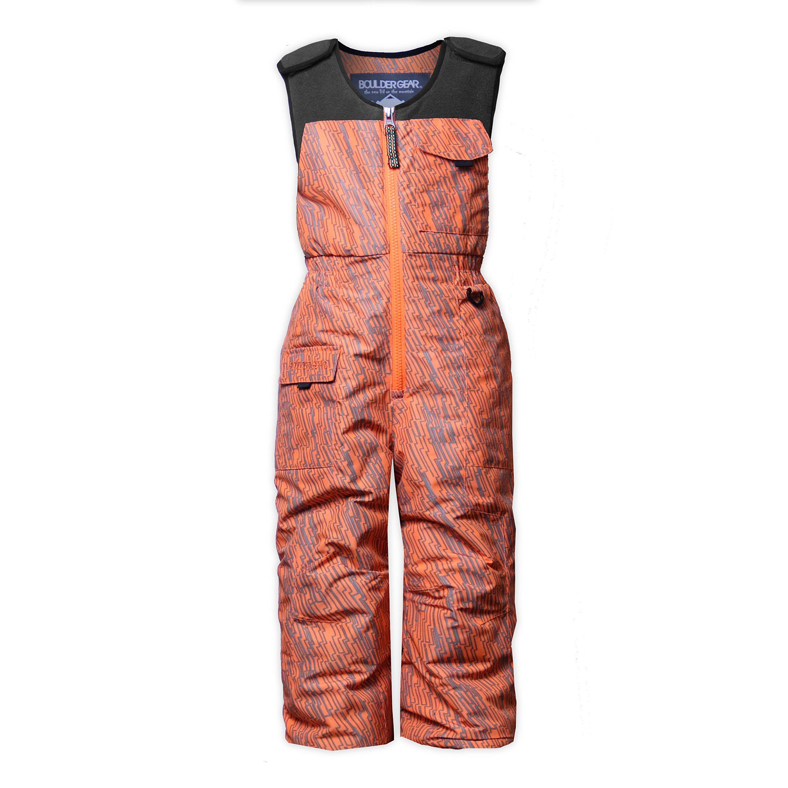 Boulder Gear 9274R Kid Boys Nestor Bib, Orange Static Print - 4