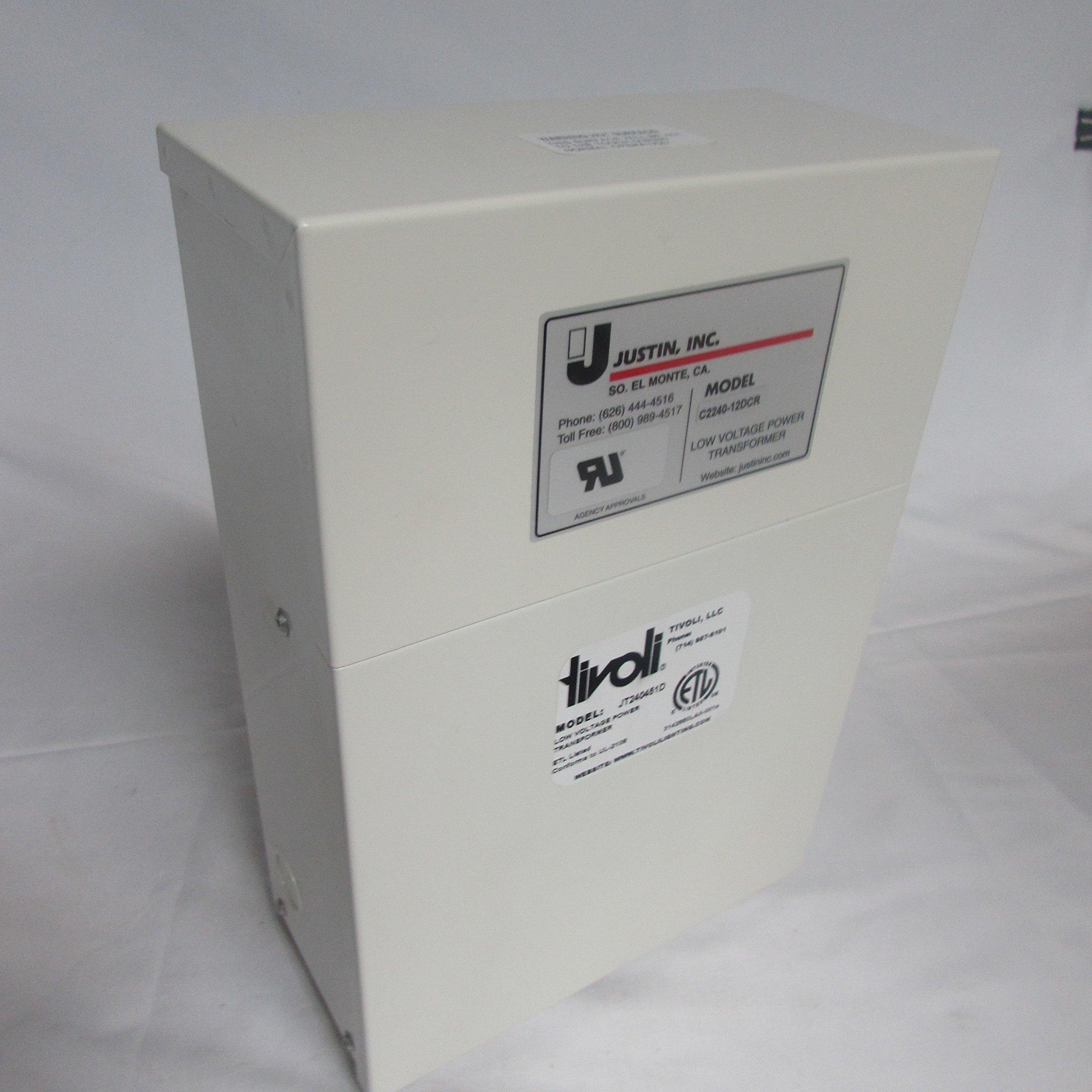 JUSTIN, INC TIVOLI, LLC JT240451D .060kVA Primary 120V Secondary 12VDCV Transformer