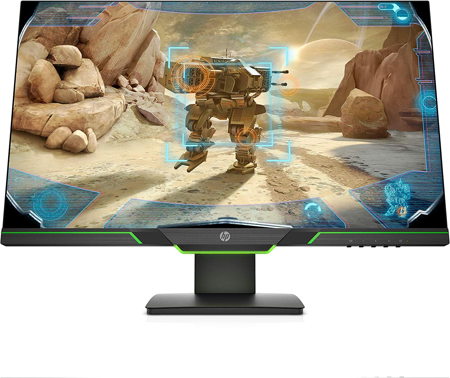 HP 27x 27-inch Full HD 1080p 144Hz 1ms Gaming Monitor with AMD FreeSync, Ambient Lighting, Height/Tilt Adjustable, and Narrow Bezel (3WL52AA#ABA)