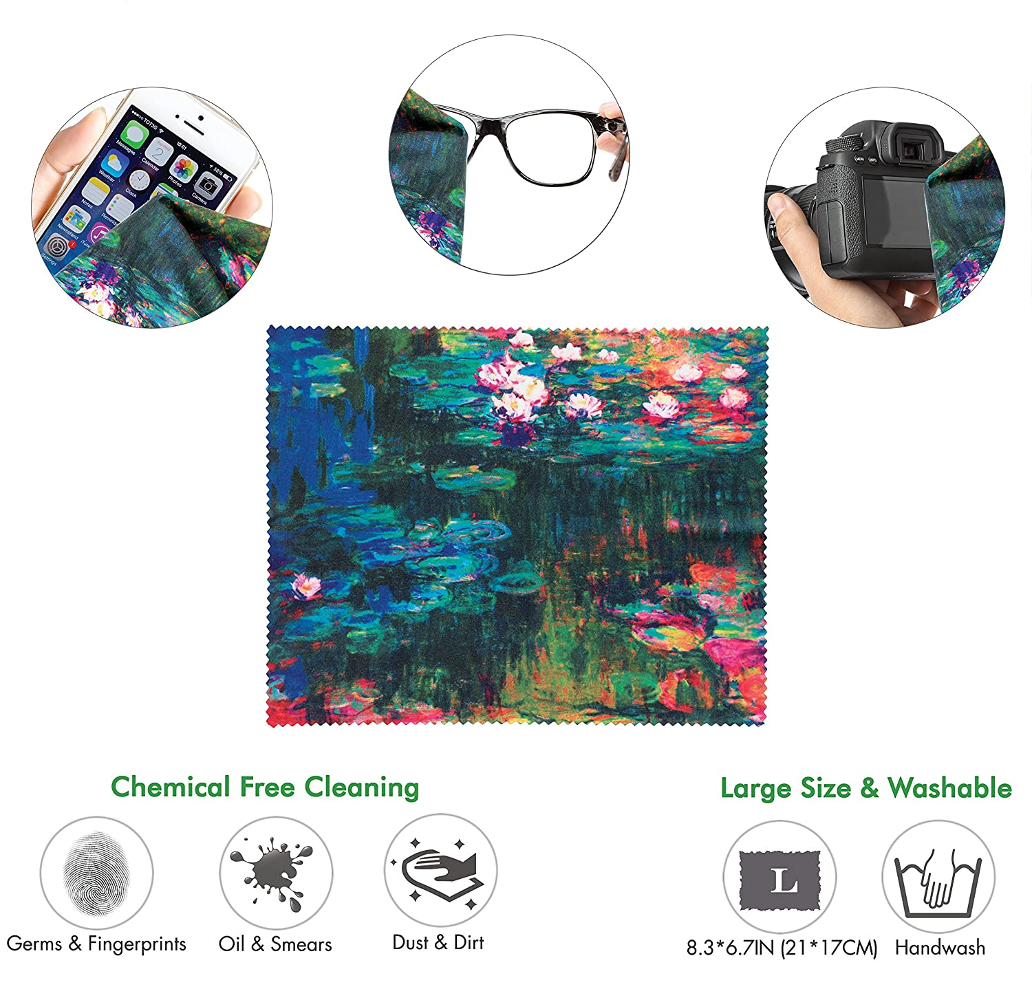 Matching Microfiber Cleaning Cloth for Glasses /& Screens Great for Gaming /& Work Round Large Mousing Area Van Gogh Starry Night Ergonomic Design Mouse Pad with Wrist Rest Hand Support
