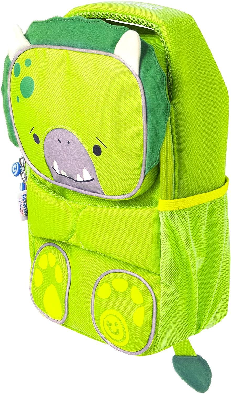 ToddlePak Dudley le Dinosaure Cartable Haute Visibilit/é pour Enfants Trunki Sac /à Dos Vert