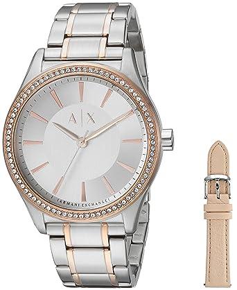Armani Exchange Reloj Analogico para Mujer de Cuarzo con Correa en Acero Inoxidable AX7103: Amazon.es: Relojes