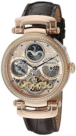 Stührling Original 353A.334K14 - Reloj analógico para Hombre, Correa de Cuero, Color Negro: Amazon.es: Relojes