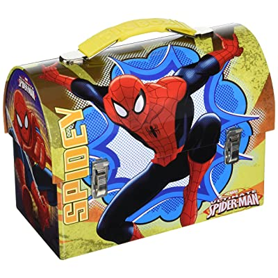 .com - The Tin Box Carry All Large Marvel Spider Man Workman's Assorted -