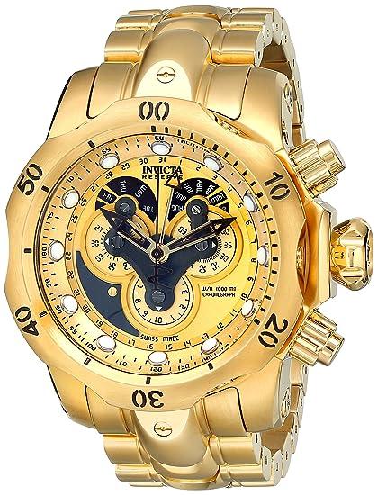 Invicta 14462 - Reloj para hombres, correa de acero inoxidable color dorado