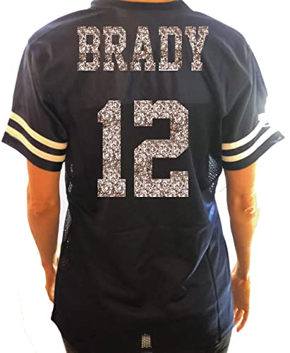 Amazon.com  Patriots Brady Glitter Jersey - or choose your fav team player  and number  Handmade f2ee67587