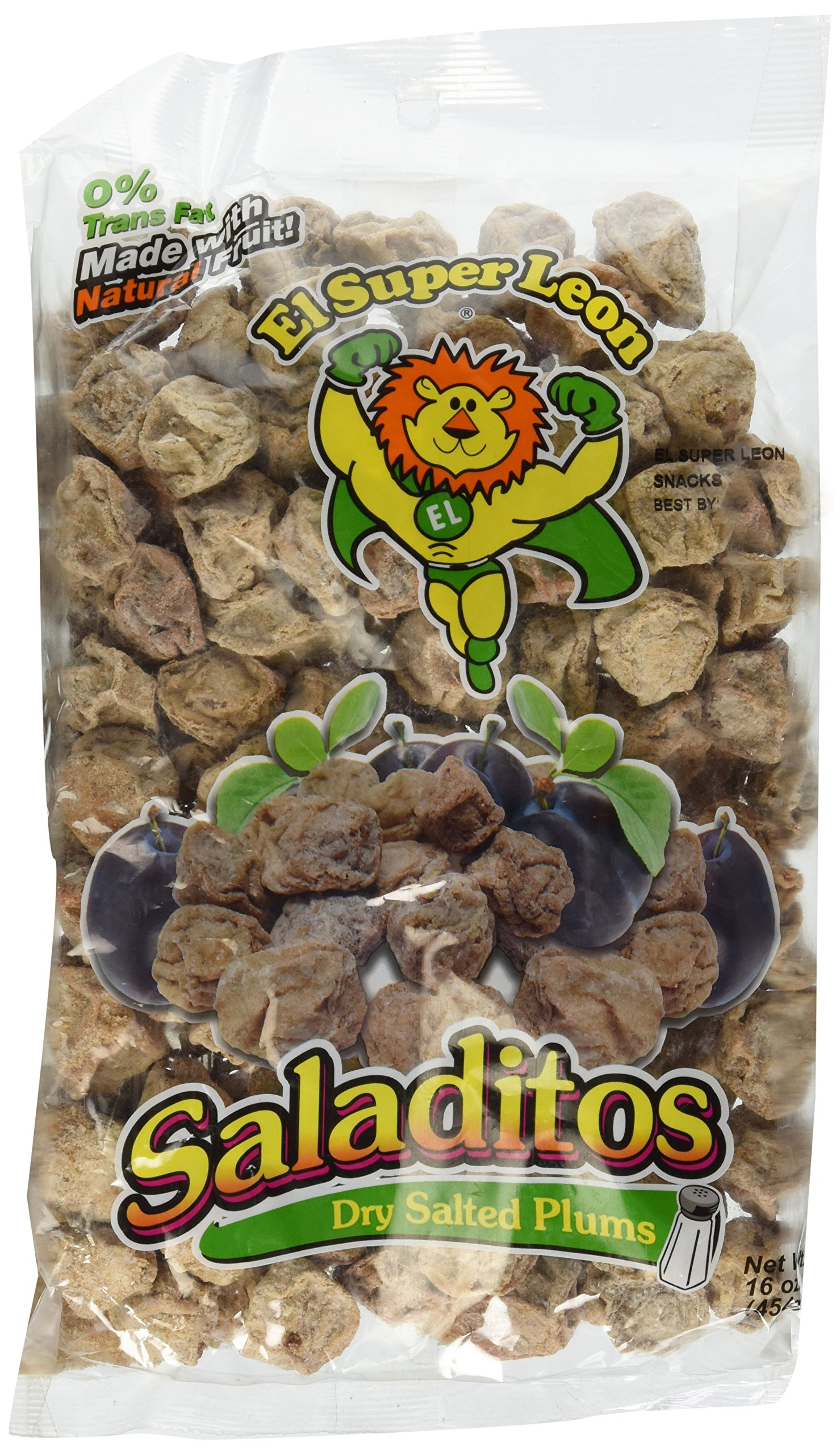 Saladitos Con Sal (Dry Salted Plums) 16oz Bag