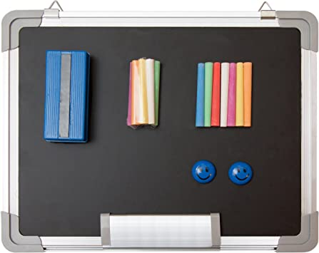 Amazon Com Chalkboard Set Small Black Board 15 X 12 1 Magnetic Chalk Eraser 14 Chalk Sticks 7 Colors And 2 Magnets Mini Hanging Wall Message Sign Blackboard For Home Office Kids 15x12 Landscape Office Products