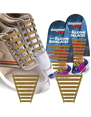 b467b1ec13f Diagonal One No Tie Shoelaces for Kids   Adults.The Elastic Silicone Shoe  Laces to