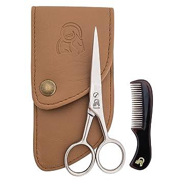 Superb Amazon Com Beard Amp Mustache Scissors With Comb For Precise Facial Short Hairstyles For Black Women Fulllsitofus