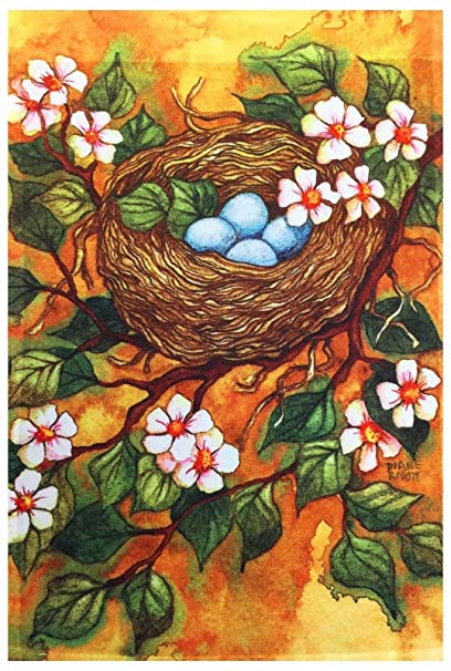 Bird Nest & Eggs Garden Flag 12