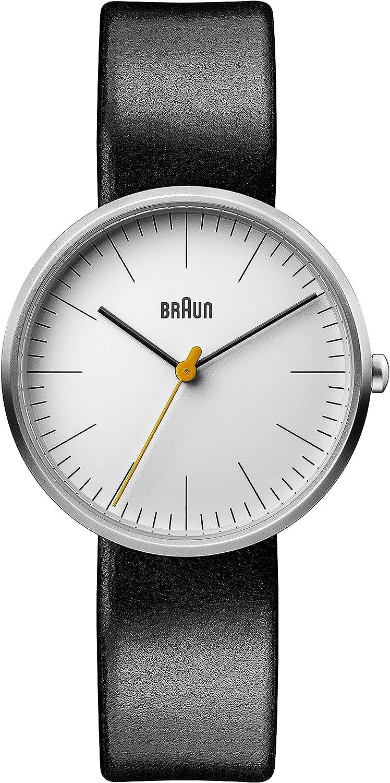 Braun Reloj Análogo clásico para Mujer de Cuarzo con Correa en Cuero BN0173WHBKL