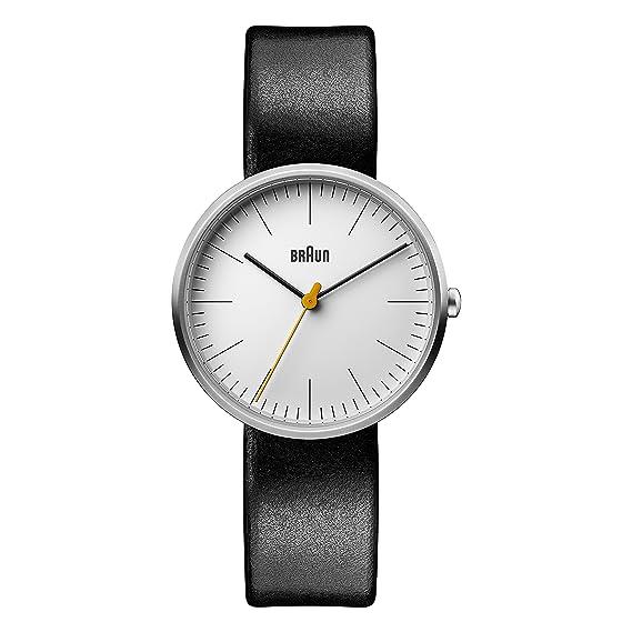Braun Reloj Análogo clásico para Mujer de Cuarzo con Correa en Cuero BN0173WHBKL: Amazon.es: Relojes