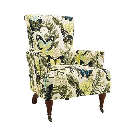 Amazon.com: Linón junnell Arm Chair, Tela, Azul: Kitchen ...