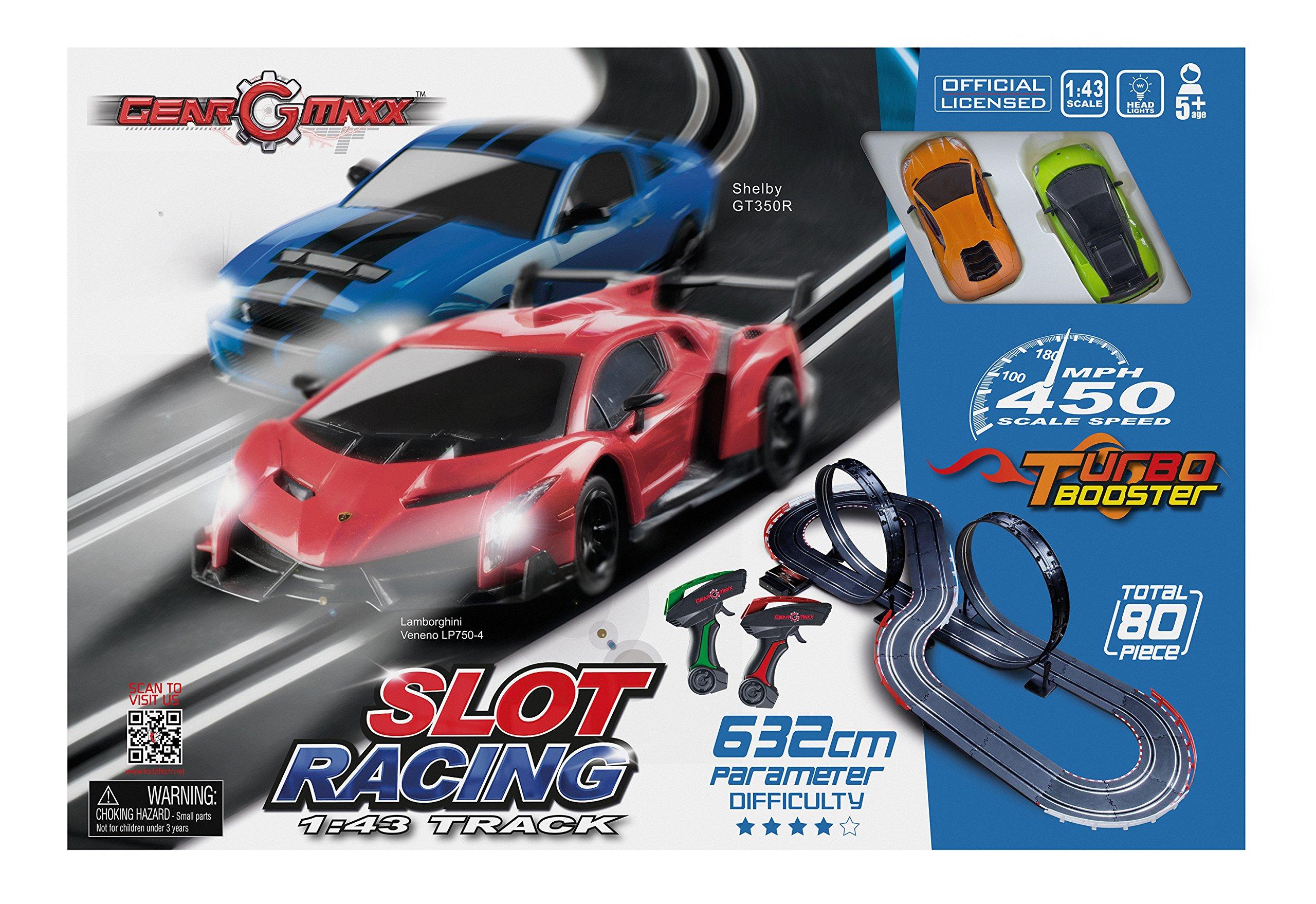 Kidztech 83209 632 cm 1:43 Slot Track Car Set (2-Piece)