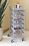 Seville Classics 6-Drawer Steel Mesh Organizer Cart