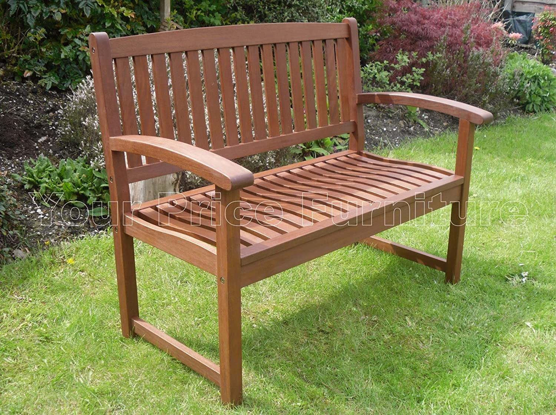 Henley Hardwood 2 Seat Garden Bench Great Outdoor Furniture For Your ...