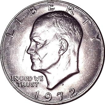 "1972 /""Blue Ike/"" BU Eisenhower Dollar"