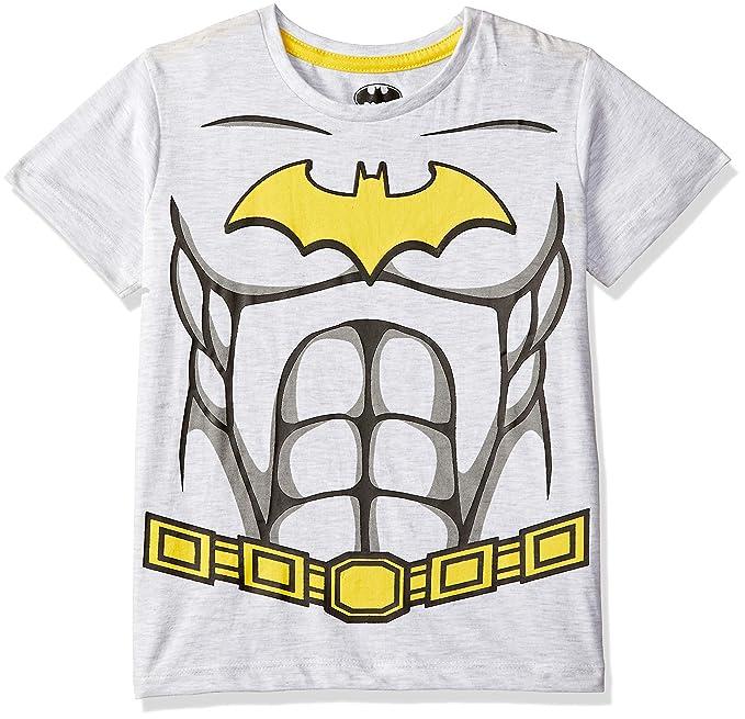 5644a75e Batman Boys' Plain Regular Fit T-Shirt (BM0GBT1528_Light Grey Mel/Black_2-
