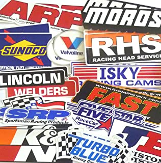 Racing Decal Sticker 26 Piece Assortment Pack in Pairs Fender Contingency Size By Crash Daddy