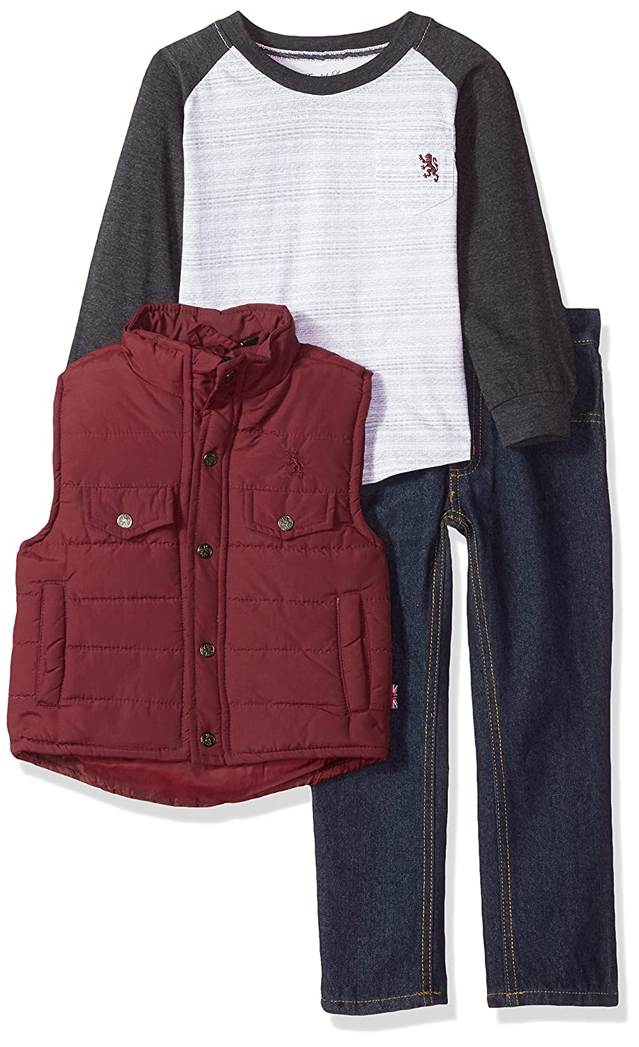 English Laundry Boys' Vest, T-Shirt and Pant Set (More Styles Available)