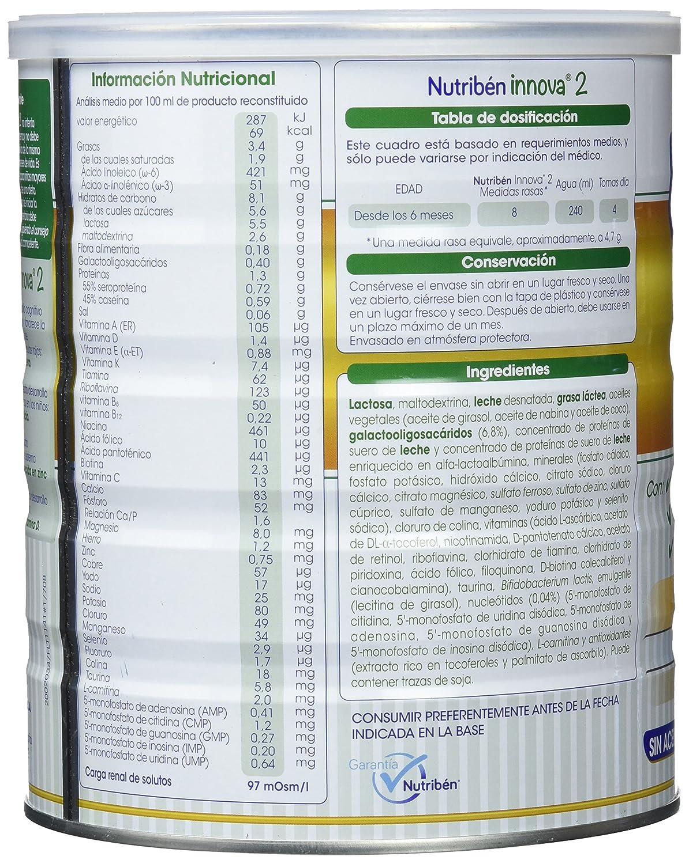 Nutribén - Leche Infantil Innova 2 desde los 6 meses - 800 gr.