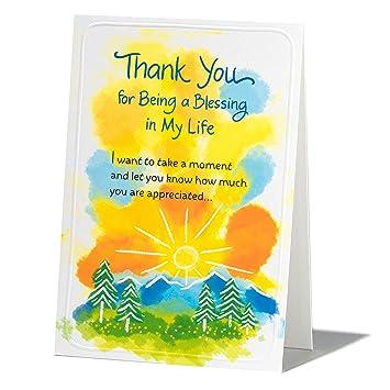 Amazon.com: Tarjeta de felicitación de agradecimiento Blue ...