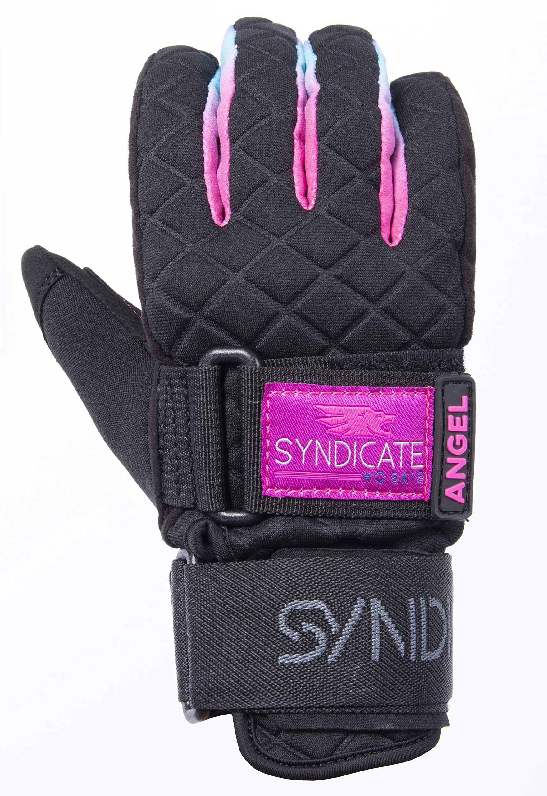 Ho Women's Syndicate Angel Waterski Glove Black/Pink (L) by HO Sports