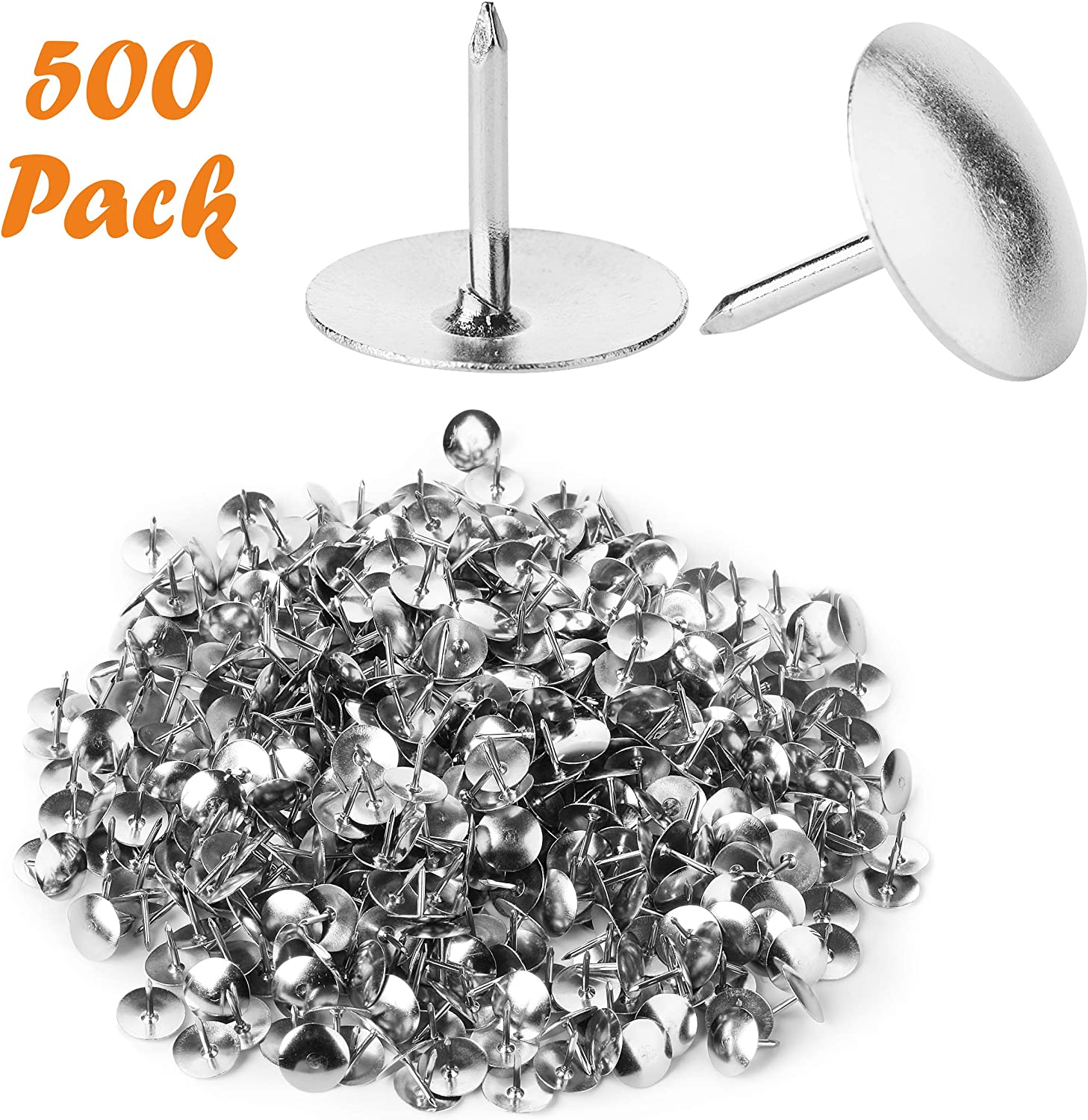 Mr. Pen Thumb Tack, Flat Push Pins, 500 Pack