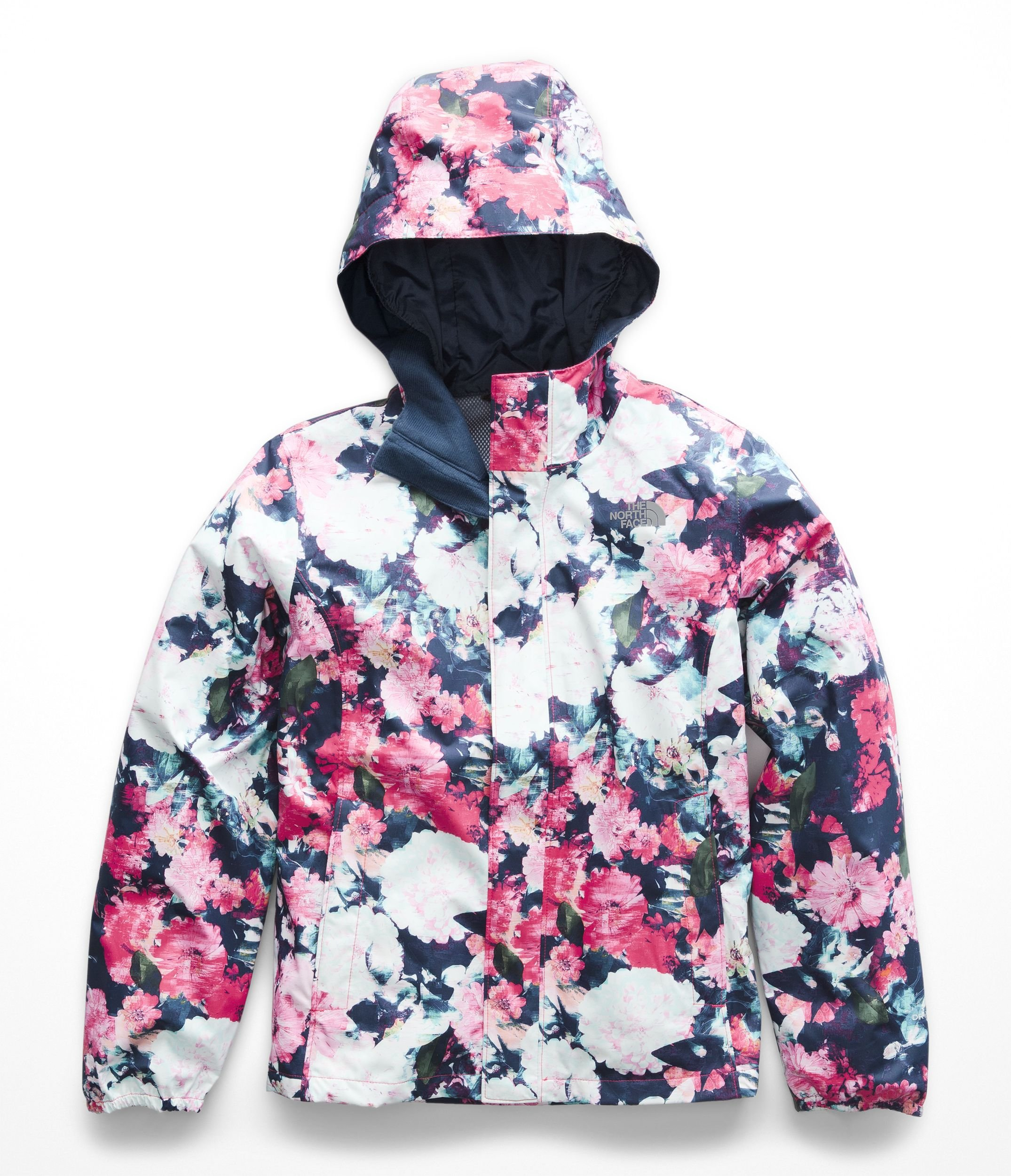 The North Face Girls Resolve Reflective Jacket - Atomic Pink Digi Floral Print - M by The North Face