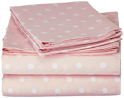Mi Zone Polka Dot Twin Bed Sheets, Casual 100% Cotton Bed Sheet,