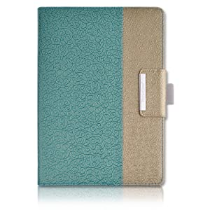 Thankscase iPad 9.7 inch 2018 2017 Case,iPad Air Case,Rotating Case Smart Cover with Stand Build-in Wallet Pocket and Hand Strap for Apple iPad 6th Gen 5th Gen, iPad Air 1st Gen 2013 (Gold Jade)