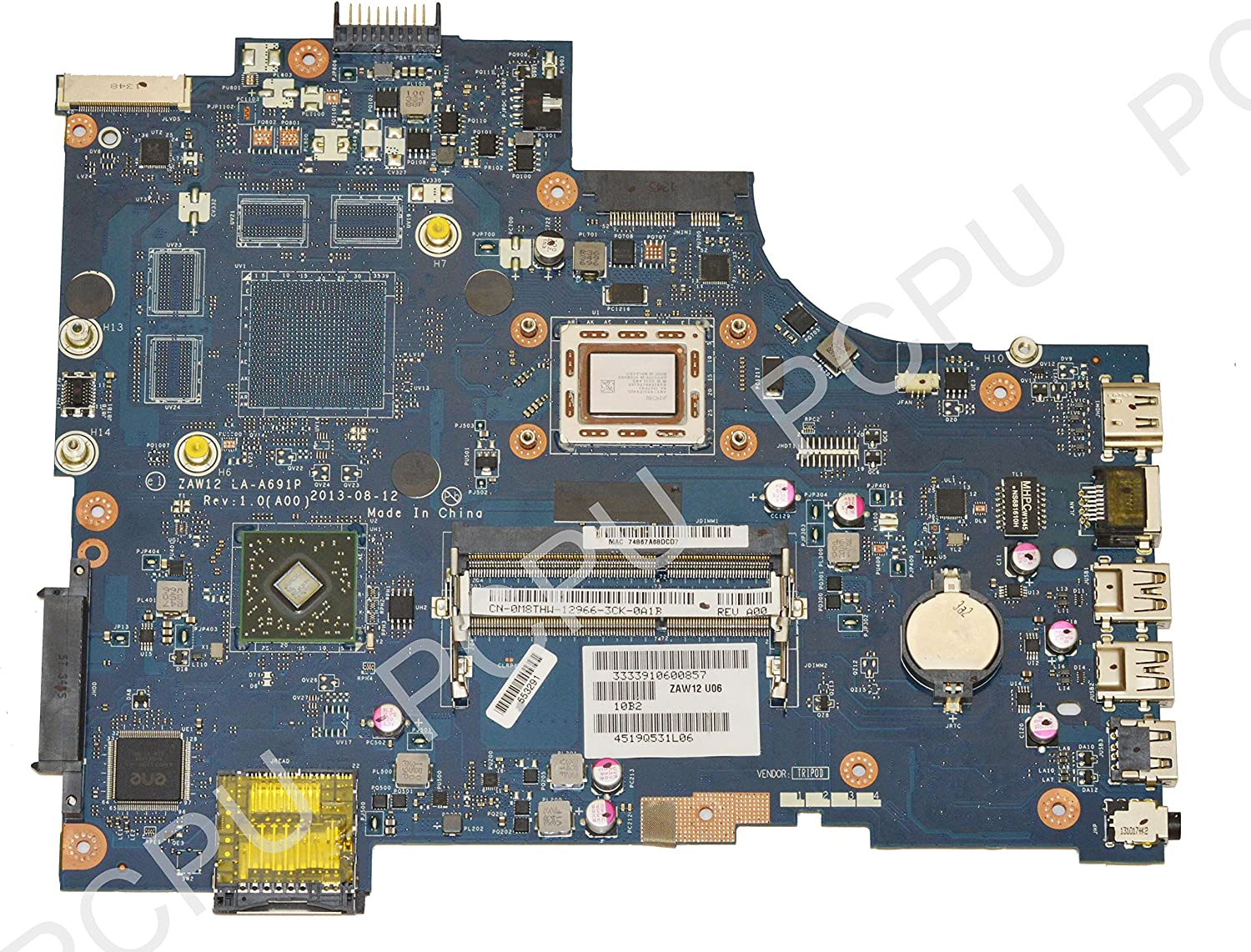 M8THW Dell Inspiron 17R M731R-5735 Laptop Motherboard w/AMD A10-5745M 2.1GHz CPU