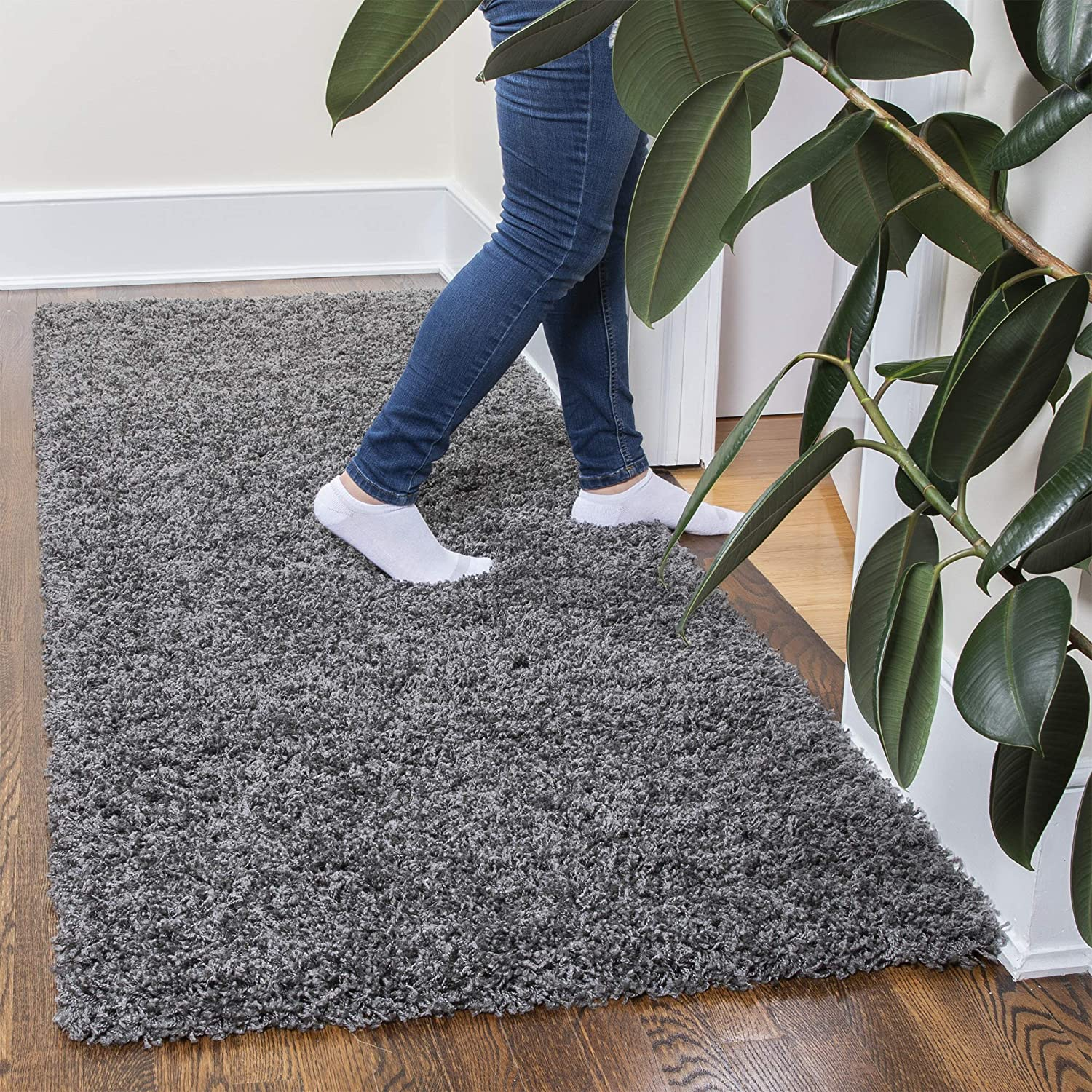 Gray 3X8 Ottomanson Shag Collection Area Rug