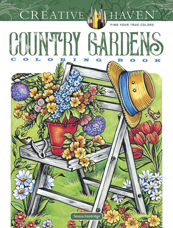 Creative Haven Country Gardens Coloring Book  Creative Haven Coloring Books