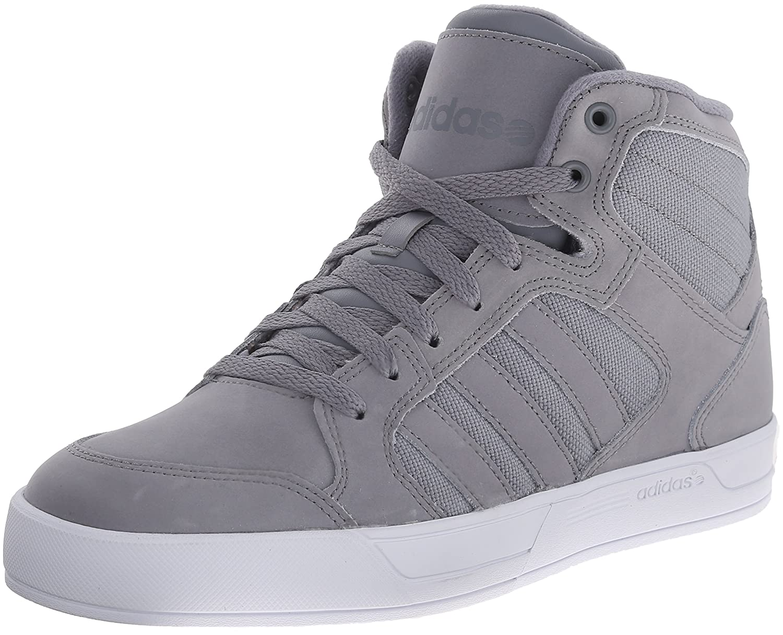 adidas NEO Men 's Raleigh Mid Lace Up Shoe, GreyGreyWhite