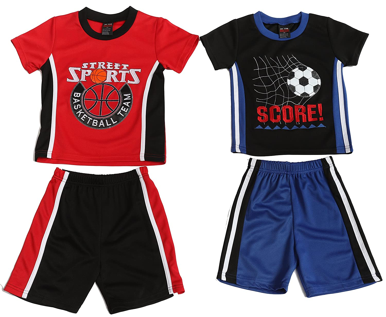 At The Buzzer Two Piece Embroidered Short Set Pack of 2