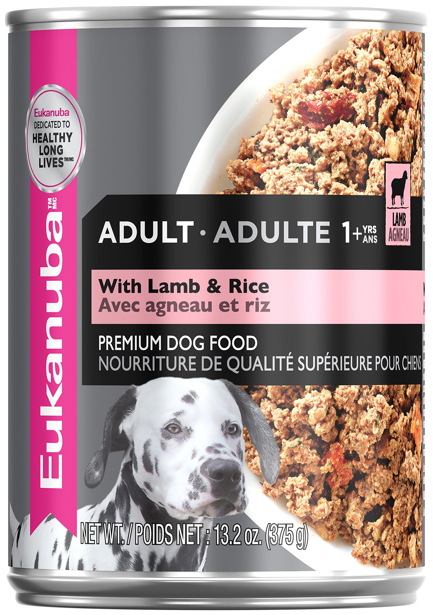 Eukanuba Wet Food 10154713 Adult With Lamb & Rice Canned Dog Food (Case of 12), 13.2 oz