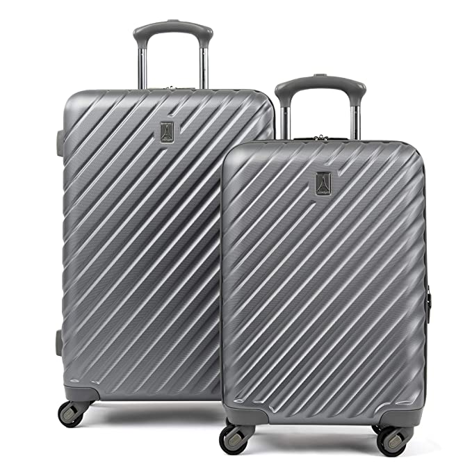 "Travelpro Citadel Deluxe 20"" and 24"" Hardside Spinner Luggage Set, Gun Metal Gray"