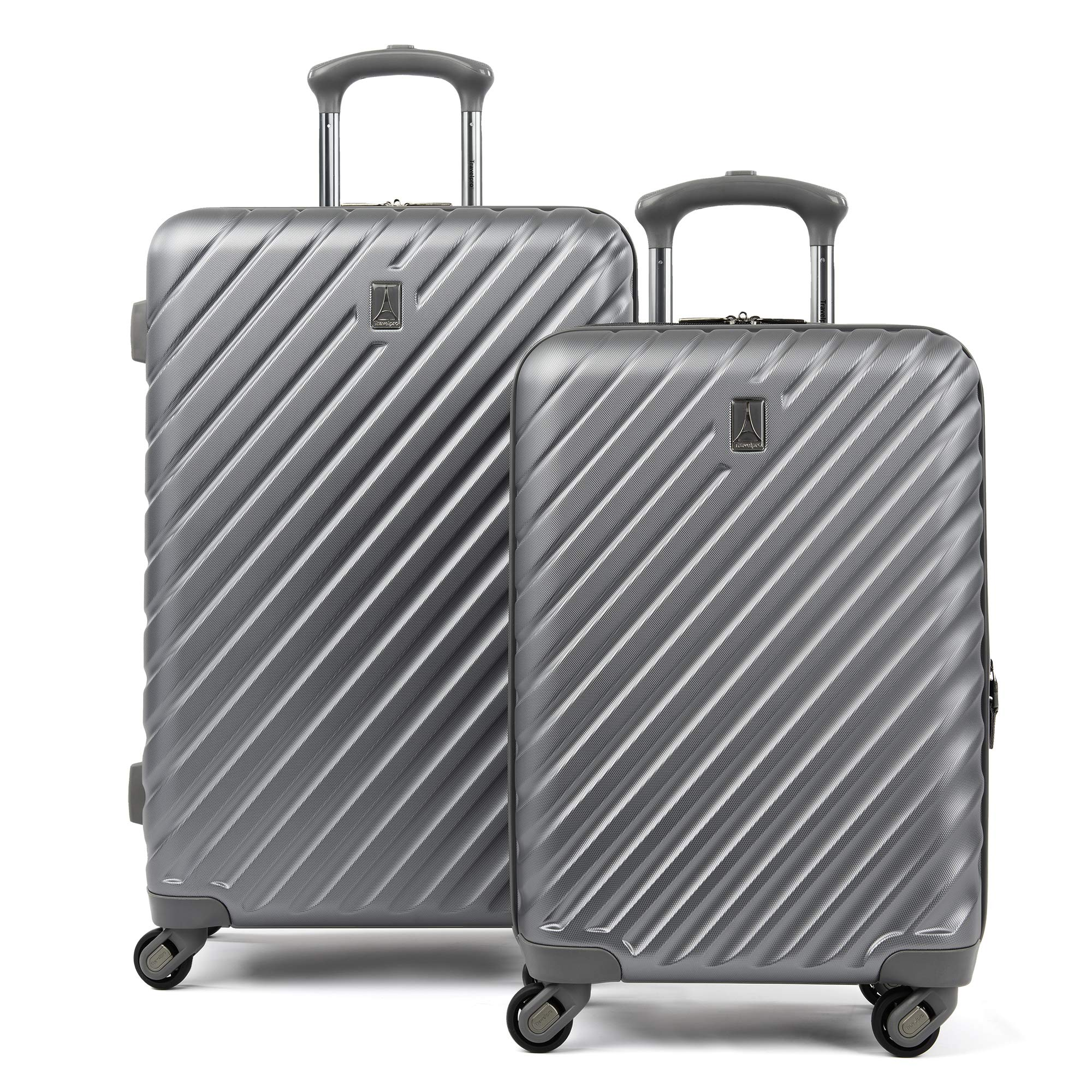 Citadel Deluxe 20'' and 24'' Hardside Spinner Luggage Set by Travelpro, Gun Metal Gray